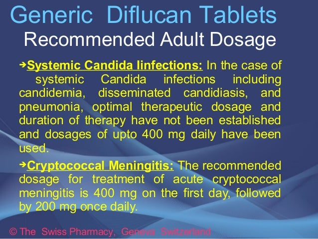 Diflucan Dose Yeast Infection