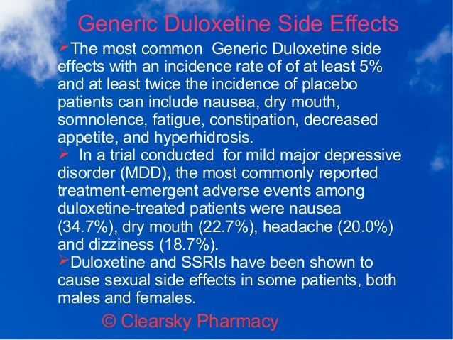 Duloxetine Side Effects Forum