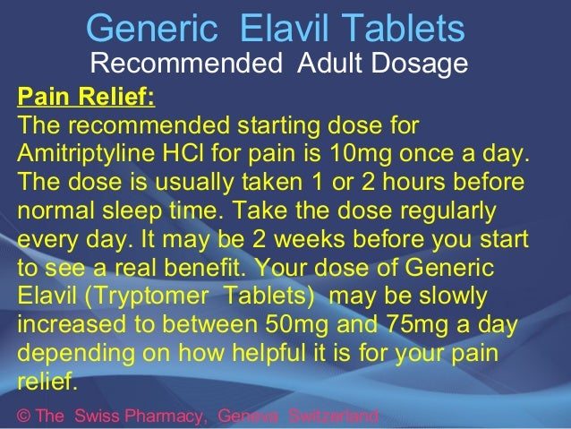 Elavil Dosage Pain