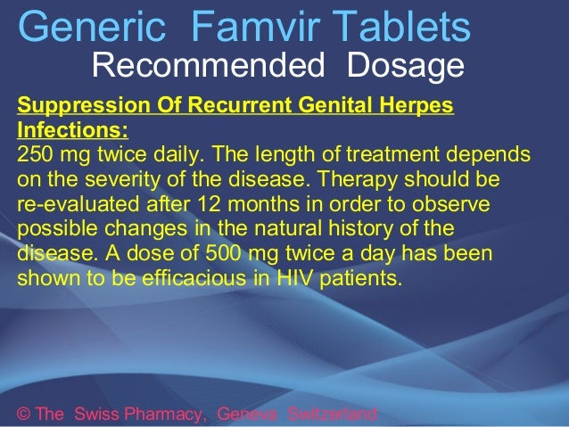 Famvir for cold sores