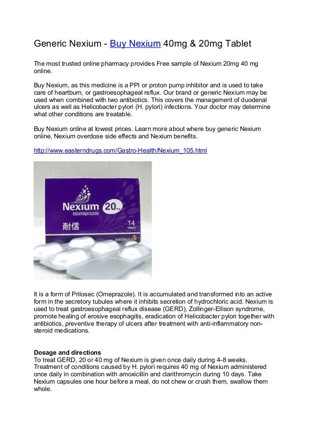 Buy Nexium Pharmacy