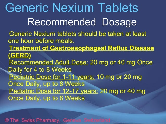 Nexium Regular Dose