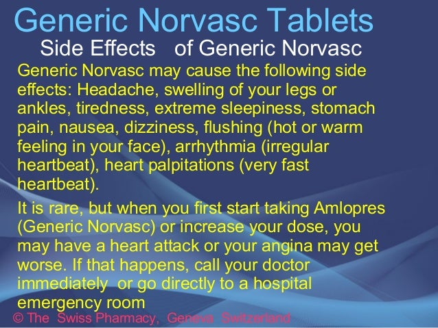 Norvasc Side Effects Nausea