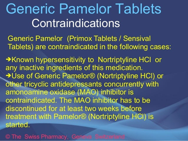 Pamelor Drug Uses