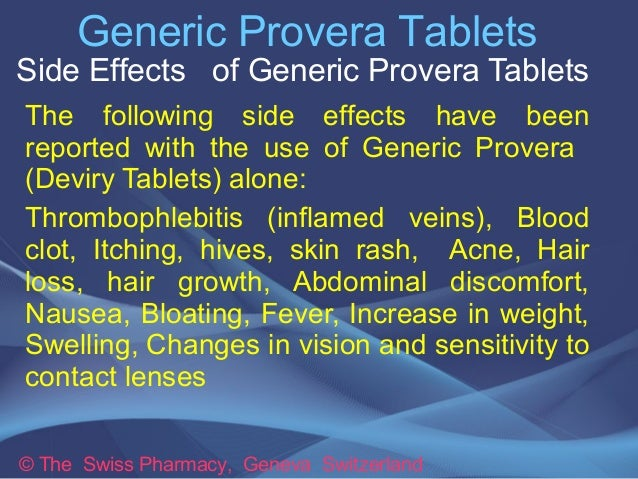 Provera Tablets And Pregnancy