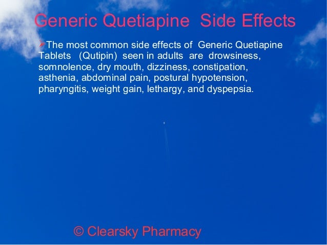 Quetiapine Side Effects Forum