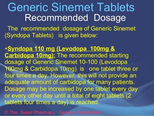 Sinemet Dosage