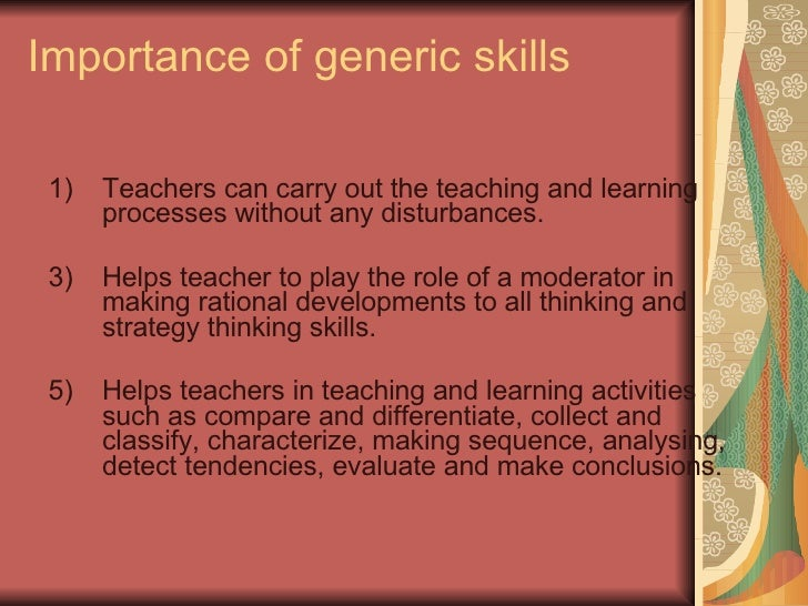 What Are Generic Skills?