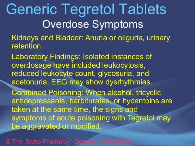 Carbamazepine Signs Of Toxicity