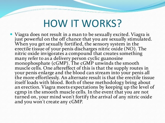 how does viagra work physiologically