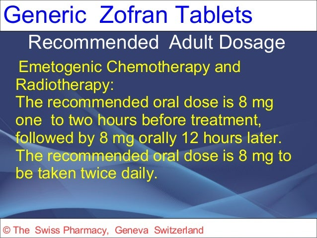 Zofran adult dose vomiting