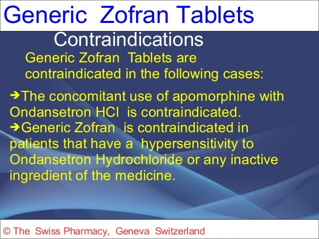 Zofran Dosing For Nausea And Vomiting