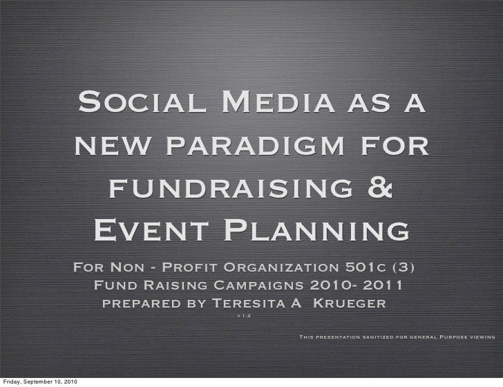 Social Media as a                         new paradigm for                           fundraising &                        ...