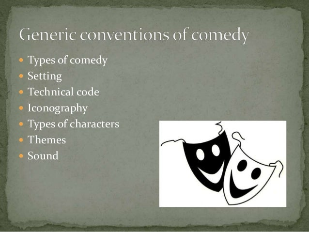 Generic conventions of comedy for Farcical humor examples