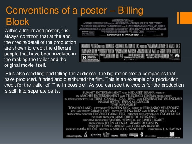 Generic conventions of film posters