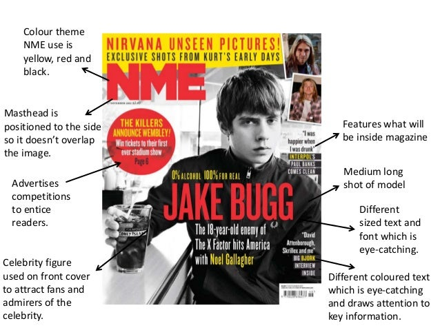 Generic conventions of magazine front covers and contents for Front of house magazine
