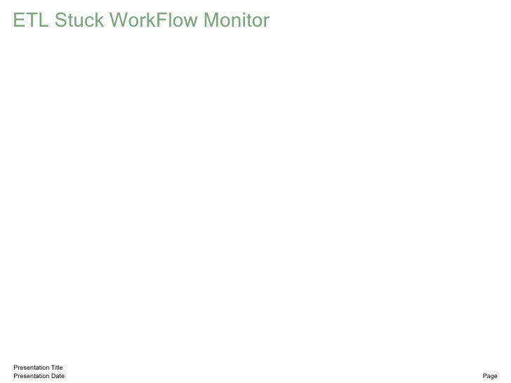 ETL Stuck WorkFlow Monitor     Presentation Title Presentation Date            Page