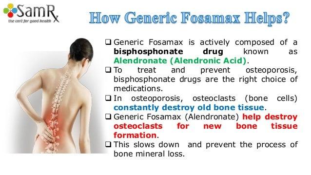 Generic Fosamax To Treat Osteoporosis Problem In Women