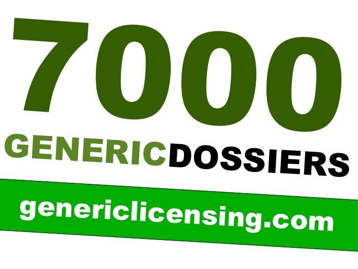 70 0 0GENERICDOSSIE                 RSgenericlicensing.                 com