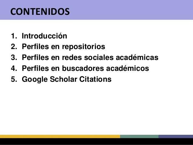 Cómo crear y mantener un perfil en Google Scholar Citations Slide 2