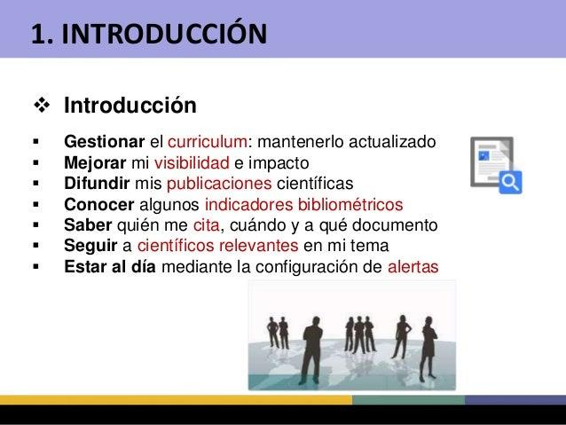 Cómo crear y mantener un perfil en Google Scholar Citations Slide 3