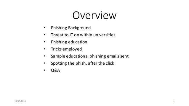 Organizational Phishing Education Slide 2
