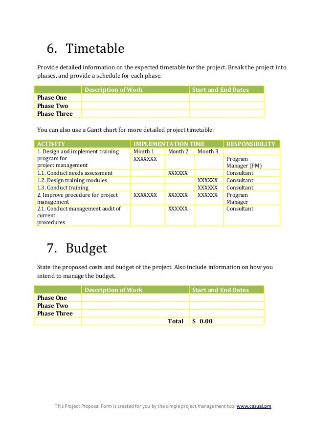 Generic project proposal template – Simple Project Proposal