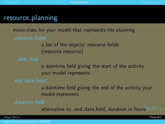 Generic resource planning in OpenERP. Holger Brunn, Therp Slide 3