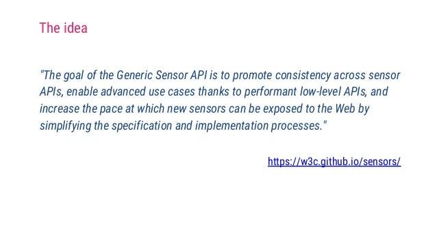 Generic sensors for the Web