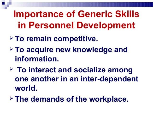 Generic Skills Courses.