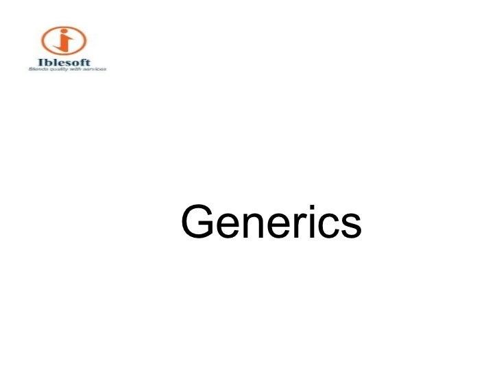 <ul><li>Generics </li></ul>