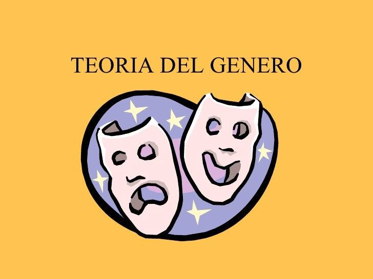 TEORIA DEL GENERO