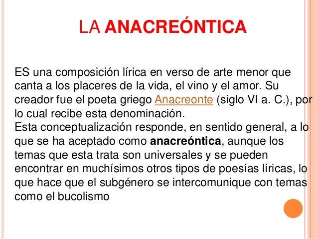 Resultado de imagen de anacreontica