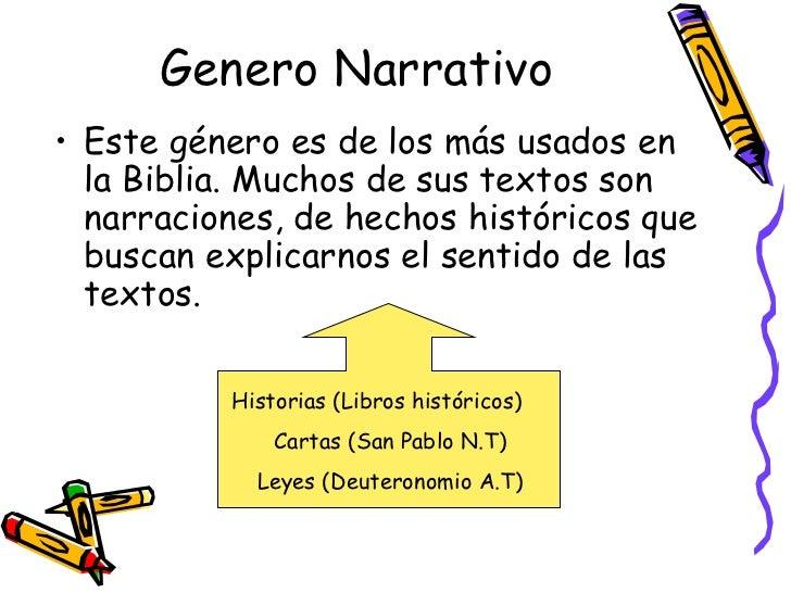 Generoos literarios en la biblia