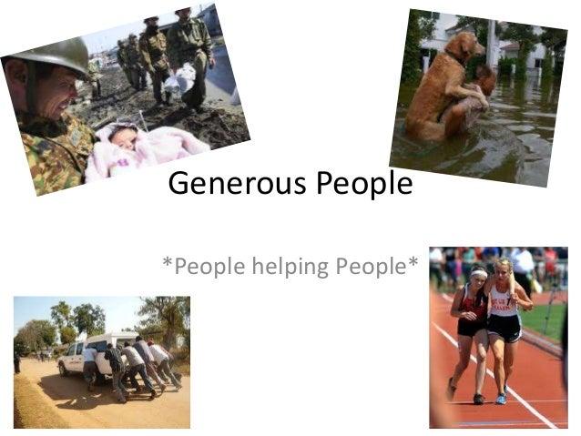 generous person - photo #13