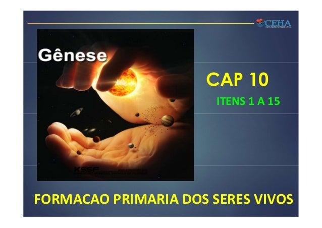 CAP 10 ITENS 1 A 15 FORMACAO PRIMARIA DOS SERES VIVOS