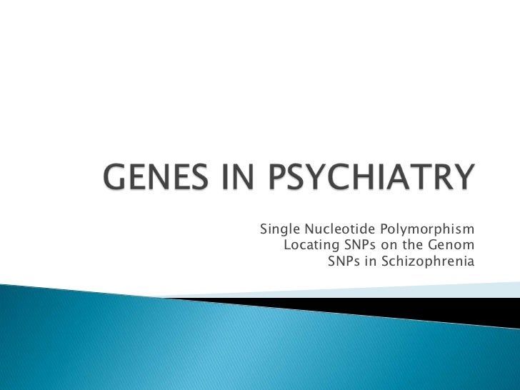 Single Nucleotide Polymorphism   Locating SNPs on the Genom          SNPs in Schizophrenia