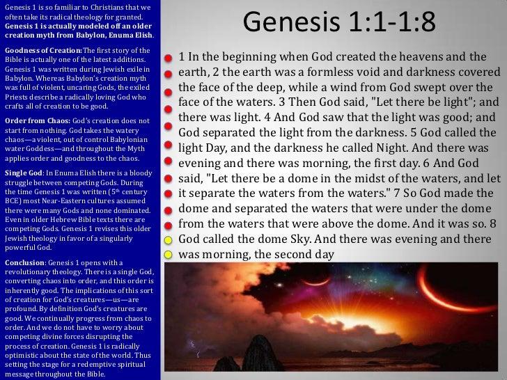Genesis 1:1-8