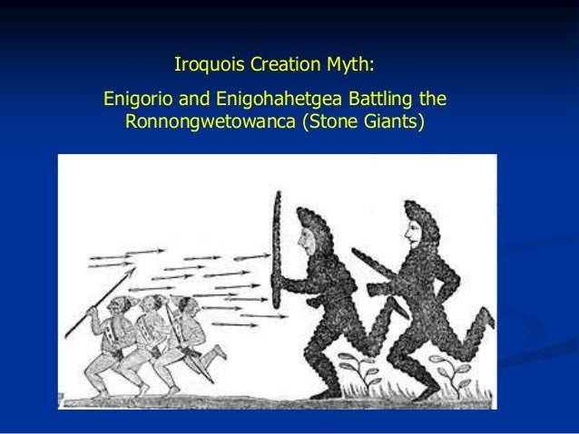 genesis vs iroquois creation myth essay Free essay: genesis vs iroquois creation myth all different cultures have their own creation stories, mostly all containing the elements of a higher power.