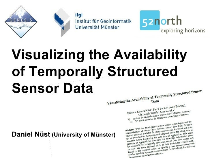 Visualizing the Availability of Temporally Structured Sensor Data Daniel Nüst  (University of Münster)