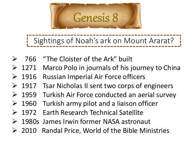 God Remembered Noah - Genesis 8