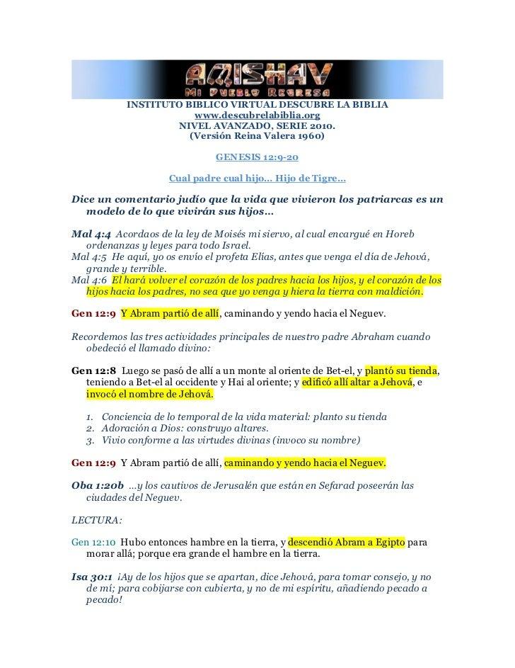 INSTITUTO BIBLICO VIRTUAL DESCUBRE LA BIBLIA                        www.descubrelabiblia.org                     NIVEL AVA...