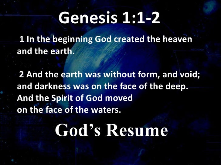Reflections on Genesis 1 – God Our Creator