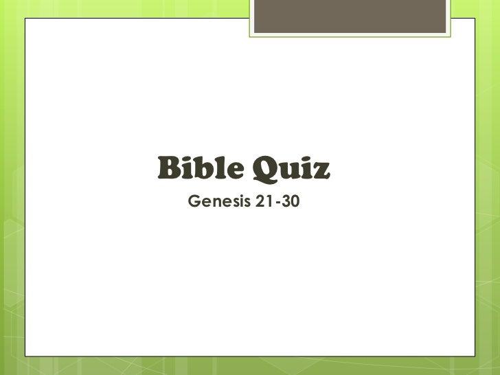 Bible Quiz Genesis 21-30