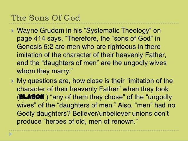 Genesis Ch 6, #1, 2012, Days Of Noah, Sons Of God