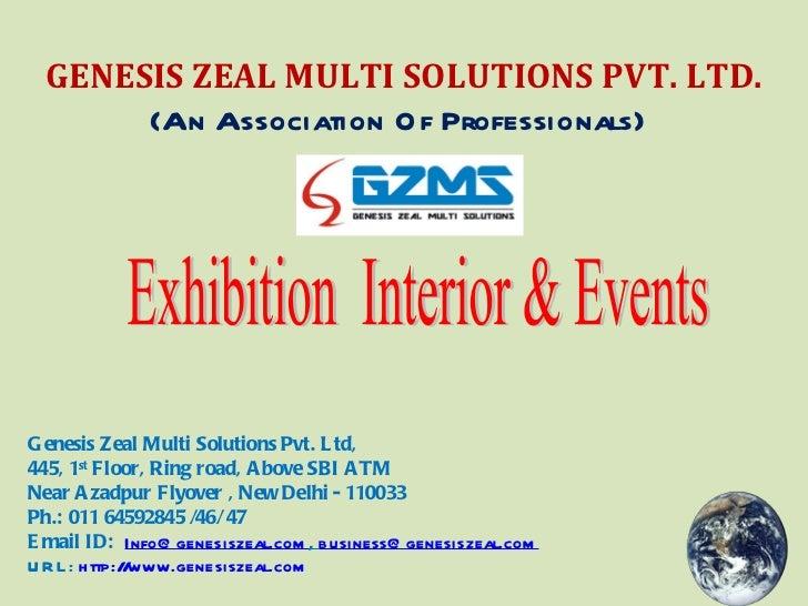 Exhibition  Interior & Events GENESIS ZEAL MULTI SOLUTIONS PVT. LTD. (An Association Of Professionals)   Genesis Zeal Mult...