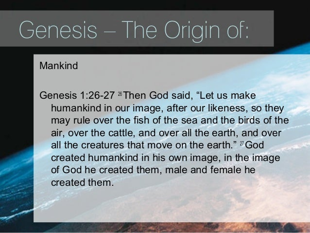 Image result for Genesis 1:26, 27