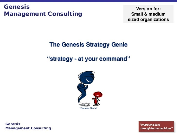 Genesis                                              Version for:Management Consulting                              Small ...
