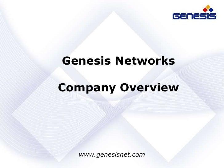 Genesis Networks<br />Company Overview<br />www.genesisnet.com<br />