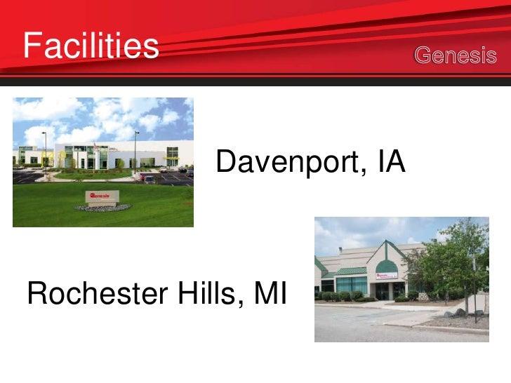 Facilities             Davenport, IARochester Hills, MI